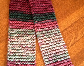 Hand knit scarf - Holiday