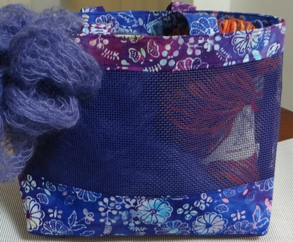 Purple Screen Mesh Purse Tote