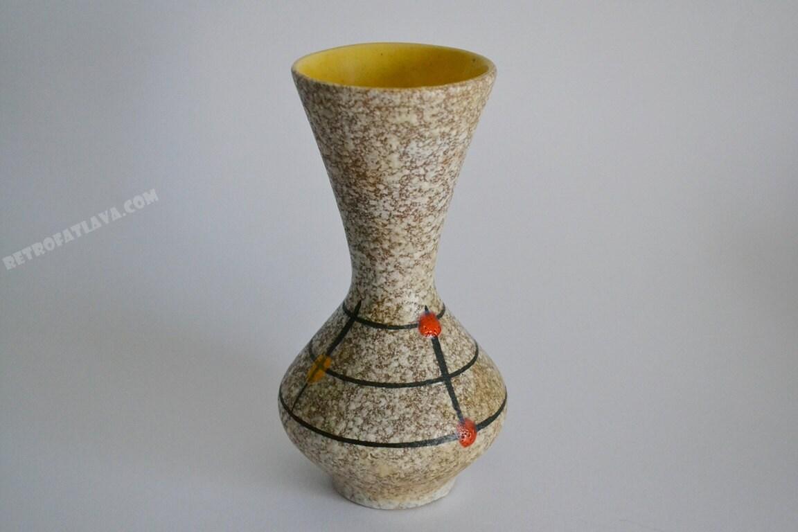 Scheurich West German Pottery vase 523-18 by RetroFatLava ...