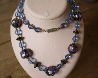 1950s blue Murano necklace