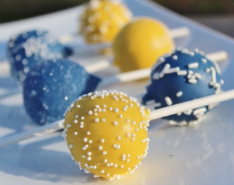 Navy Blue & Yellow Signature Cake Pops