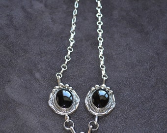 Handmade Sterling Silver and Black Oynx Necklace