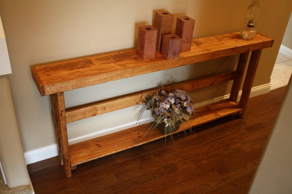 Unique primtiques american walnut stained by uniqueprimtiques for 70 inch console table