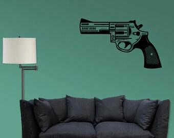 Pistol - Vinyl Revolver Decal