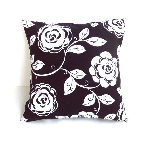 Decorative White Pillow Covers : Black And White Decorative Pillow Cover by PillowsGaloreNMore