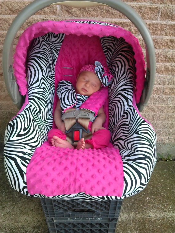 Items Similar To Hot Pink And Zebra Baby Car Seat Cover On