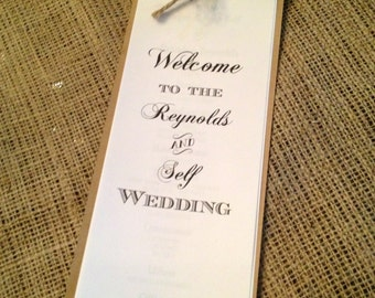 100 Vintage wedding ceremony and reception programs