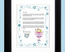 Children's Personalized Tooth Fairy Letter - Printable Digital File