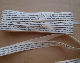 1 Yard Love Letter Script Cotton Tape