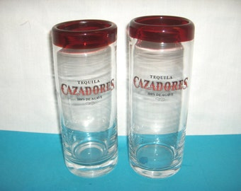 CAZADORES TEQUILA Glasses 12 ounces Set of 2