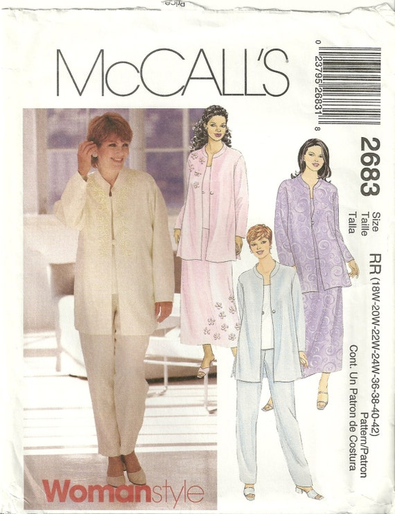Plus Size Mother Of The Bride Dress Sewing Patterns: Mccalls elegant ...