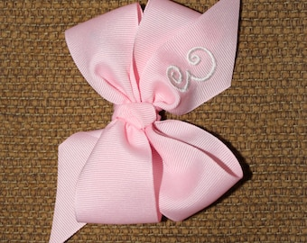 Personalized Monogrammed Girl Hair Bow