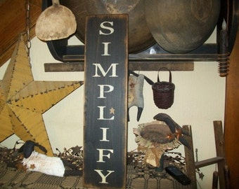SIMPLIFY VERTICAL STAR Primitive Sign