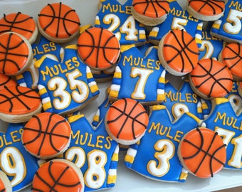 Basketball Cookies - 2 dozen