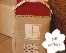 Pattern: tower door stopper- door stopper pdf pattern- house door stop pattern