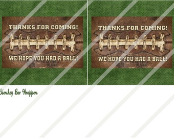 Vintage Football Two Candy Bar Wrappers Print or Digital Download