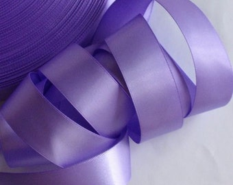 10 yards 1 inches double face Satin Ribbon in Hyacinth DY10-193