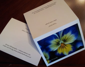Photography Note Cards - Set of 5 with envelopes