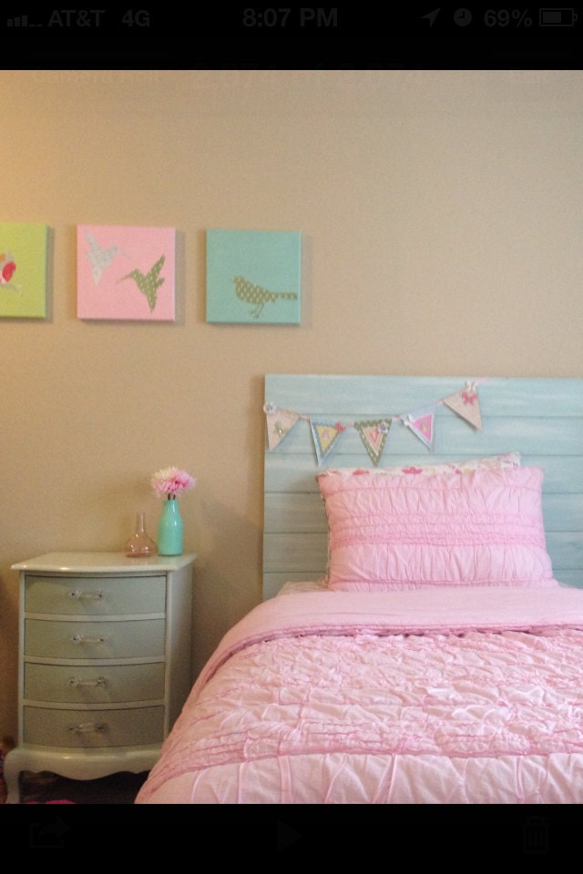 Handmade Hand Painted Twin Headboard