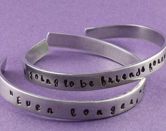 SALE - Friends Forever Stamped Cuff Bracelets - Aluminum Bracelets - BFF - Besties