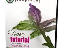 Video tutorial how to make SILK Japanese leaf using japanese flower making tools