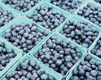 It's Blueberry Season - Kitchen Art - Wall Decor - Nature Fruit - Farmers Market Art - New York Blueberry - Blueberry (Food)  photograph