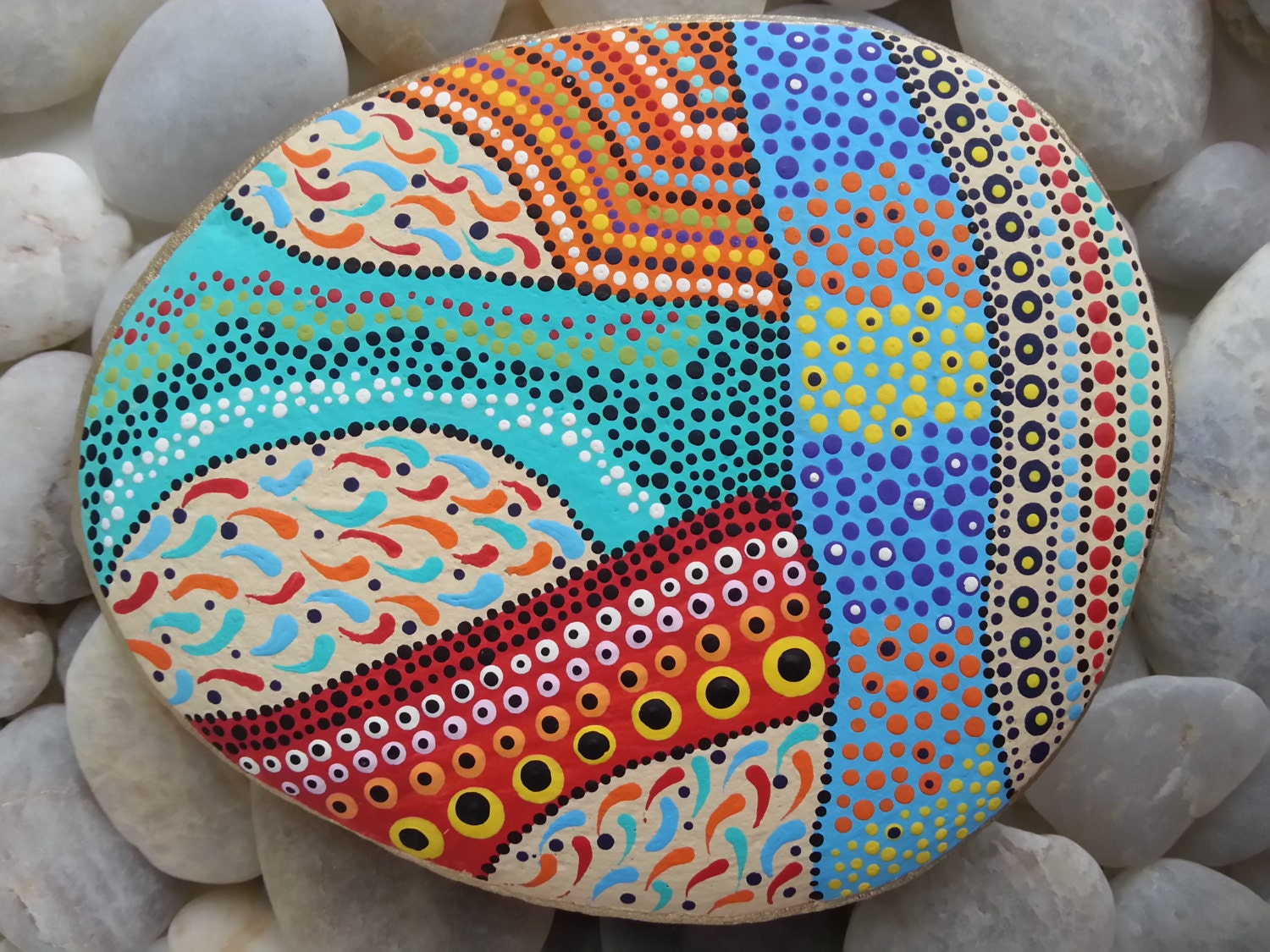 Beach Stones/Dots/Painted Stones/Painted By TheLakeshoreStore