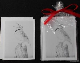 Singing Bird Notecard Set of 4
