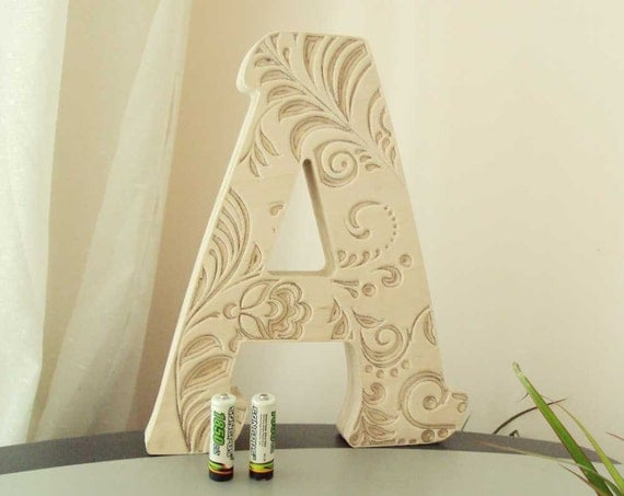 Decoration wooden letters home decor wood fathers day for Wooden art home decorations