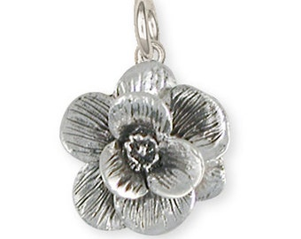 Sterling Silver Magnolia Charm Jewelry  MG2-C