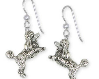 Solid Sterling Silver Poodle Earrings Jewelry  PD58-E
