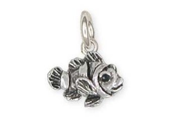 Solid Clownfish Charm Jewelry Sterling Silver CLF1-C