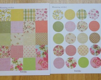 Fabric stickers - 6 pages