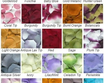 100 Fabric Rose Petals - Wedding Petals Flower Girl - Crafts - Home Decor - Valentines Day