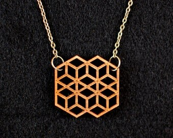 Honeycomb Screen Necklace