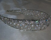 Bridal Headdress - Fabulous Crystal and Freshwater  Pearl Headband Tiara