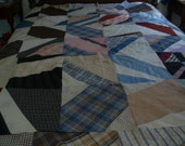 Antique Quilt Top, Cutter Quilt, Crazy Quilt Top, Quilt Fabric, Quilt Restoration Fabric, Quilt Repair Fabric, Early 1900s Quilt Fabric,