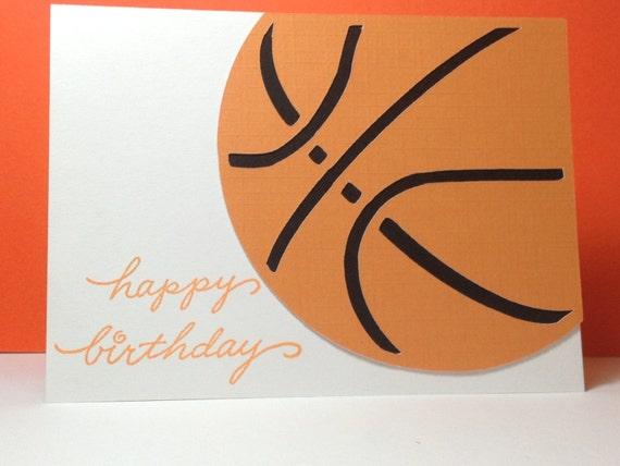 basketball birthday card, Birthday card