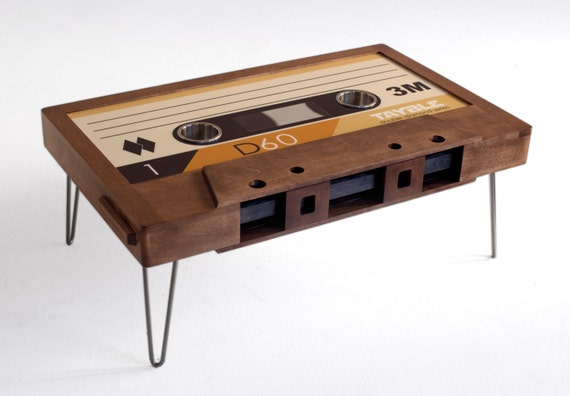 double diamond cassette tape coffee table by 214graffiti on etsy. Black Bedroom Furniture Sets. Home Design Ideas
