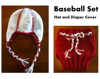 Baby Baseball Hat and Diaper Cover Set for the Sports Fan