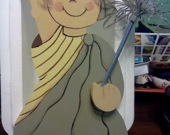 Wall decor. Little miss Liberty holding a sparkler