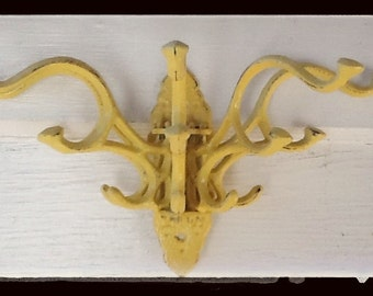Summer Squash Yellow Wall Hook with Five Arms for all the great things you want to hang up.