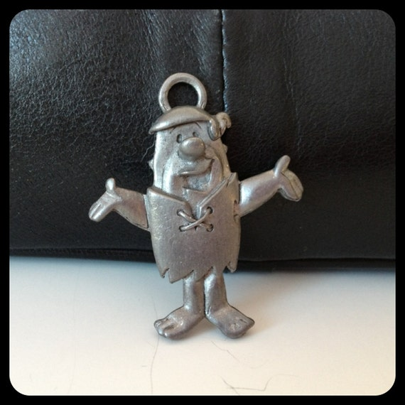Fred Flintstone Pewter Charm for Jewelry Making Licensed