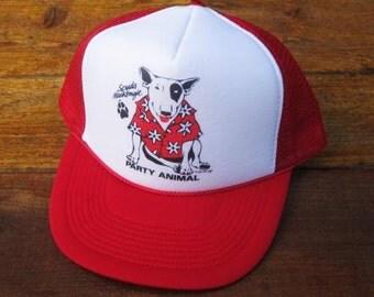 Vintage Spuds Mackenzie Bud Light Beer Party Animal Mesh Trucker Hat
