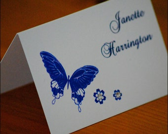 Butterfly Wedding Place Cards finished with crystals | Purple Butterfly | Place Setting | Placecard | Spring Wedding