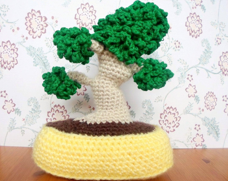 Amigurumi Plant Patterns : Bonsai amigurumi crochet pdf pattern instant download