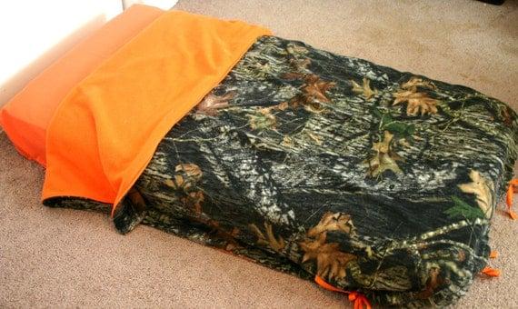 Items Similar To Mossy Oak Camo Fleece With Orange Fleece