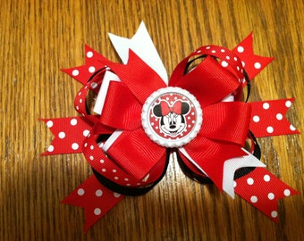 Minnie Mouse Hair bow pink or red or yellow