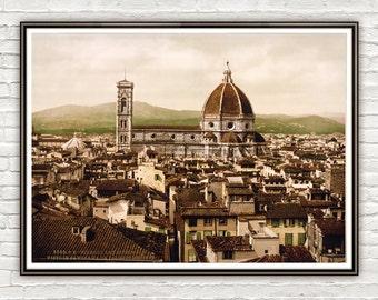 Vintage Photo of Florence The Duomo Italy Italia 1897