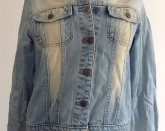 Vintage Bleached Denim Jacket